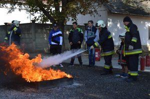 Cursuri de formare profesională pentru pompierii voluntari din Foldeák
